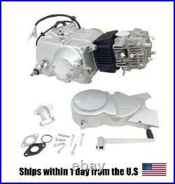 125cc MOTOR ENGINE 4 speed Manual Clutch Pit Dirt Bike Coolster CRF 1P54FMI Silv