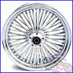 16 3.5 48 Fat King Spoke Front Wheel Chrome Rim Dual Disc Harley Softail Touring
