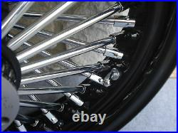 16x3.5 Black Fat Spoke Rear Wheel For Harley Fxst Softail XL Touring Baggers