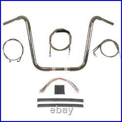 1 1/4 Chrome 16 Ape Hanger Handlebar Kit 1996-2006 Harley-Davidson Softail