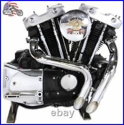 1 3/4 Chrome LAF L. A. F. Exhaust Header Set Drag Pipes Harley Ironhead Sportster