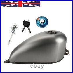 1.5 Gallon Steel Custom King Gas Fuel Tank for Harley Sportster Ironhead Bobber
