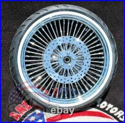 21 3.5 52 Mammoth Fat Spoke Front Wheel Tire Package 08-2020 Harley Touring ABS