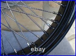 21 X3.5 60 Spoke Black Front Wheel Harley Road King Street Glide Touring 00-07
