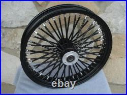 21 X 3.5 Black 48 Fat King Spoke Front Wheel Harley Touring Bagger 2000-07