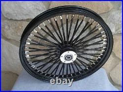 21x2.15 Blackout Fat King 48 Spoke Front Wheel For Harley Softail Wide Glide 00