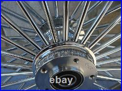 21x3.5 Fat Spoke Dual Disc Front Wheel For Harley Flt Touring Baggers 2000-07