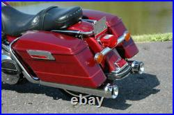 4 Chrome Megaphone Slip-On Mufflers Exhaust Pipes 1995-2016 Harley Touring
