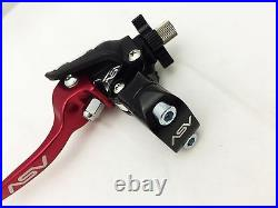Asv Unbreakable F3 Red Shorty Clutch Brake Levers Dust Covers Crf250r Crf450r