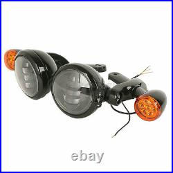 Auxiliary Light Bracket Spot Fog Light Turn Signal For Harley Street Glide 06-21