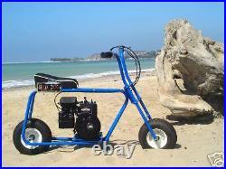BaD DoG! Mini Bike Minibike Frame 6 Wheel Kit COMPLETE! ONE INCH TUBING