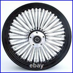 Black 18 X 3.5 48 Fat King Spoke Rear Wheel Rim Harley Touring Softail Bagger