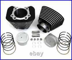 Black Big Bore Conversion Kit 883 1200 Cylinder 9.51 Pistons Harley Sportster