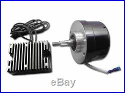 Black Generator Alternator 12 Volt 17 Amp Conversion Kit Harley Ironhead Panhead