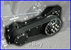 Black Ultima 2 Inch Old School Open Belt Drive Primary Harley Softail Evo TC8