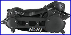 Black Ultima 3.35 Open Drag Race Style Belt Drive Harley Primary Harley Softail