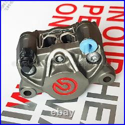 Brembo Racing P2 34mm Rear Axial Brake Caliper with Pads, Red Logo 20B85273