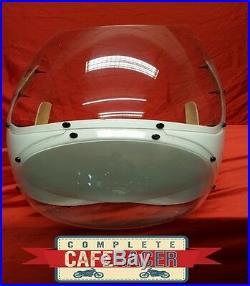 Cafe Racer Fairing With Clear Screen & Headlight Bubble Rickman / Avon Style