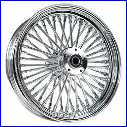 Chrome 16 x 3.5 46 Fat King Spoke Rear Wheel Rim Harley Touring Dyna Softail XL