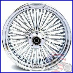Chrome 16 x 3.5 48 Fat King Spoke Rear Wheel Rim Harley Touring Dyna Softail