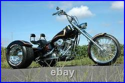 DNA Trike Axle Conversion Kit 1 1/2 70 Tooth Pulley Belt Drive Harley Chopper