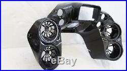 Double DIN Inner Front Fairing 4 Quad 6.5 Speaker pods Harley Road Glide 98-13