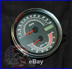 Electronic Analog Speedometer Speedo Tachometer Tach Combo Drop In Harley FXST