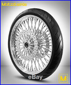 FAT SPOKE WHEEL 21X3.5 FOR HARLEY TOURING BAGGER With ROTORS TIRE MOUNTED BALANCED