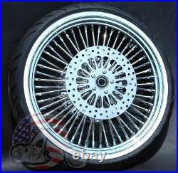Fat Daddy 48 King Spoke 21 X 3.5 Front Wheel Package 120/70-21 Whitewall Tire