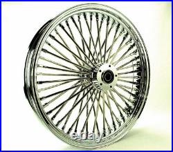 Fat Daddy 52 Mammoth Chrome Spoke 21 3.5 Front Wheel Rim 08+ Harley Touring ABS