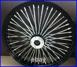 Fat Spoke 21 Black Front Wheel Harley Flhx Street Glide Electra Glide Flhtc