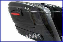 HL Black Out Hard Bag Saddlebags C50 C90 M109R Shadow Vulcan VTX Road V Star