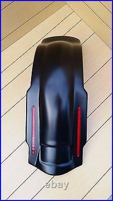 Harley Davidson 6 Stretch Saddlebags, Lids And Led Rear Fender For 96/2013