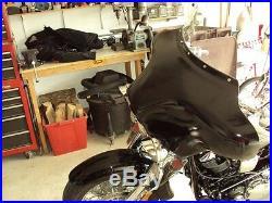 Harley batwing fairing Softail Heritage Fatboy Deluxe fairing 4 speaker