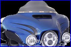 Klock Werks Flare 6.5 Dark Smoke Windshield for 14-20 Harley Touring FLHT FLHX