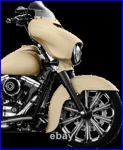 Klock Werks Flare 8.5 Windshield Dark Smoke for 14-20 Harley Touring FLHT FLHX