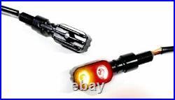 LED Mini Rücklicht Bremslicht Blinker Multifunktion schwarz Motorrad Universal