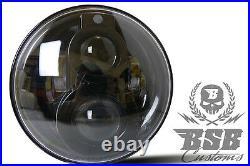 LED SCHEINWERFER 7 mit Standlicht + CE Harley Fat BOY Softail Heritage SLIM