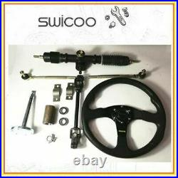 Large Steering Wheel Rack Pinion Tie Rod Kit For Go Kart Buggy Hotrod Project
