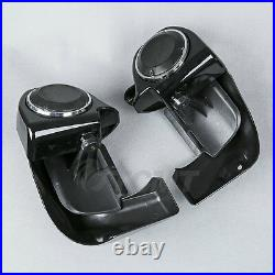 Lower Vented Leg Fairing + 6.5'' Speakers with Grills For Harley Touring 1983-2013