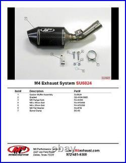 M4 Exhaust Suzuki GSXR750 2006 2007 Street Slayer Slip on with CARBON muffler