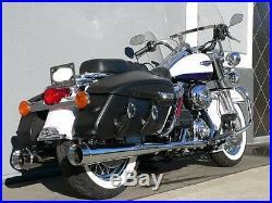 MUTAZU 4 Ver. 2.0 Chrome Megaphone Slip-On Mufflers Exhaust 95-16 Harley Touring