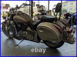 MU Silver Hard Bag Saddlebags For Honda Suzuki Kawasaki Harley Yamaha Victory