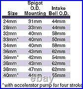 Mikuni TM33-8012 Flat Slide TM Series 4-Stroke Carburetor, 33mm 33 mm