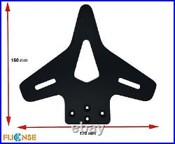 Motorcycle License Plate Flipper With Adjustable Angle