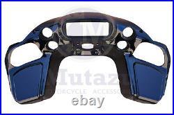 Mutazu Inner ABS Front Fairing with glove for Harley Road Glide 1998-2013 FLTR