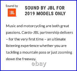 NEW Cardo Packtalk Bold Duo Bluetooth DMC Motorcycle intercom with JBL Speakers