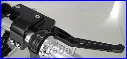 Outlaw Black Billet Handlebar Hand Controls & Micro Switches Harley Custom