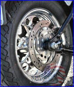 Polished Billet Kool Kat 16 X 3.5 Rear Wheel Rim Harley Touring Softail Bagger