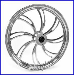 Polished Vortex 21 2.15 Billet Front Wheel Rim Harley Touring Custom Dual Disc